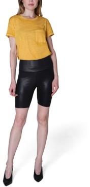 Ultra Flirt Juniors' Faux-Leather Bike Shorts