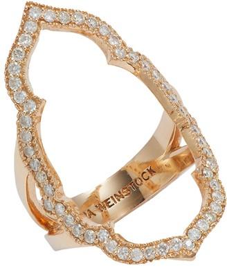 Sara Weinstock Taj 18K Rose Gold Diamond Negative Space Ring