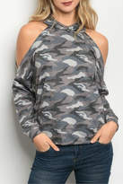 HYFVE Gray Camouflage Top