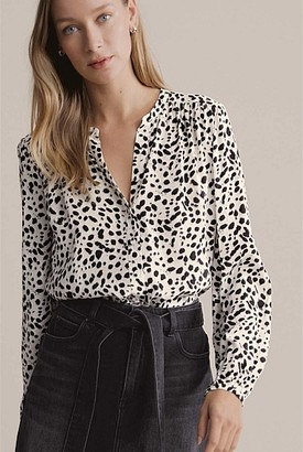 Witchery Print Button Through Blouse