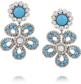 Miu Miu Swarovski crystal flower clip earrings