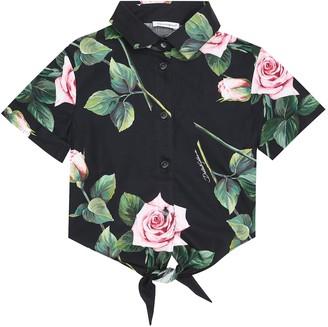 Dolce & Gabbana Floral cotton-poplin shirt