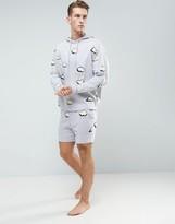 Asos Pyjama Set In Cloud Print