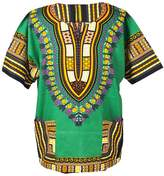 Lofbaz Traditional African Print Unisex Dashiki Size L Black and Purple