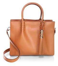 Tod's Magnetic-Snap Leather Satchel