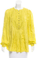 Matthew Williamson Pleated Silk Blouse