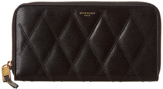 Givenchy Gv3 Quilted Leather Zip Around Wallet