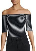 Paige Liv Striped Bodysuit
