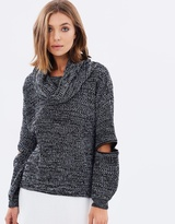 Sass Sawyer Zip Sleeve Jumper