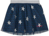 Desigual Star-printed skirt with reversible sequins