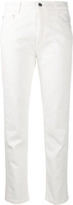 Ermanno Scervino Cropped Straight-Leg Jeans