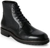 zanzara Black Northstar Cap Toe Lace-Up Boots