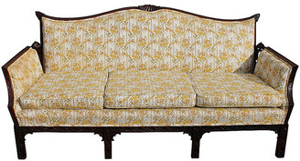 One Kings Lane Vintage Chippendale-Style Carved Sofa - Something Vintage