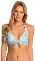Betsey Johnson Swimwear Picnic Gingham Halter Bikini Top 8146565