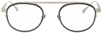 Thierry Lasry Silver and Black Keeny Glasses