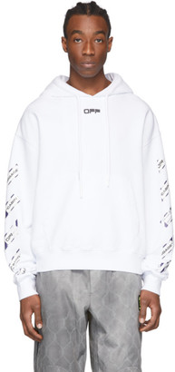 Off-White White Airport Tape Hoodie