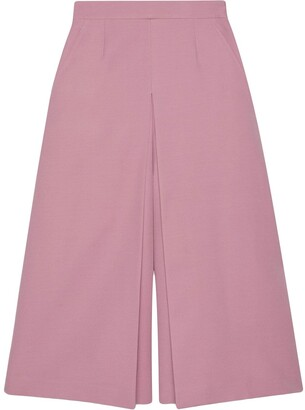 Gucci Double-Layer Wide-Leg Culottes