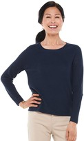 Croft & Barrow Petite Raglan Ribbed Scoopneck Sweater