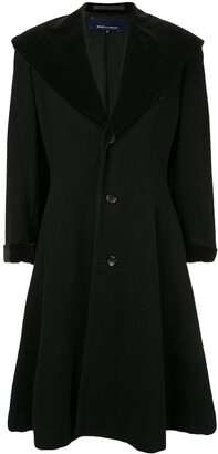 Comme Des Garçons Pre Owned Exaggerated Lapel Flared Coat