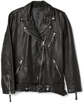 Gap Oversize leather biker jacket