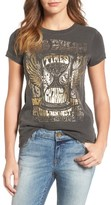 Lucky Brand Women's Bob Dylan Metallic Graphic Tee
