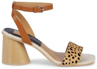 Dolce Vita Holly Leopard-Print Cow Fur Sandals