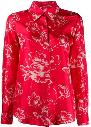 Alberto Biani Silk Floral Pattern Shirt