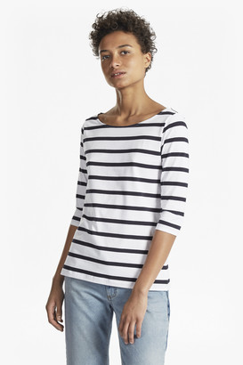 French Connection Tim Tim Stripe 3/4 Length Sleeve Top