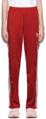 adidas Red Firebird Track Pants