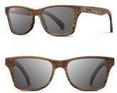 Shwood Men's 'Canby' 54Mm Polarized Wood Sunglasses - Walnut/ Grey