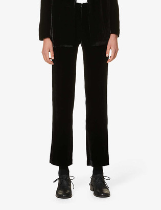 Gabriela Coll G High-rise wide velvet trousers