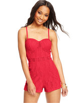 Material Girl Juniors' Lace Romper
