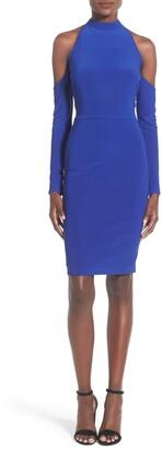 Mac Duggal Cold Shoulder Body-Con Dress
