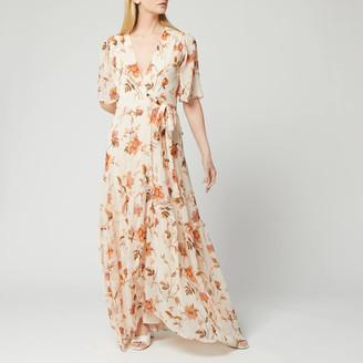 Hope & Ivy Women's Floral Maxi Wrap Dress