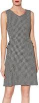 Gina Bacconi Ellie Jacquard Dress, Black/White