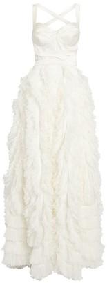Maria Lucia Hohan Ruffle Sofi Bustier Gown