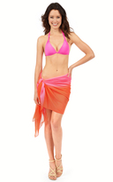 Voda Swim Neon Orange/Pink Sarong Cover Up