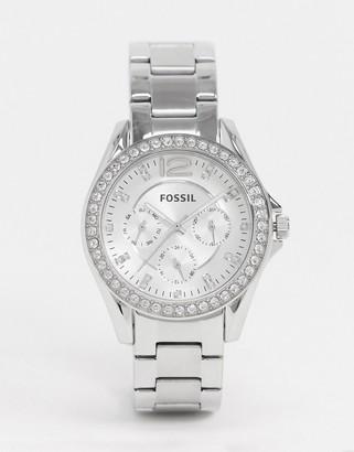Fossil Riley silver bracelet watch ES3202