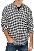 Lucky Brand Smart Military Gingham Shirt