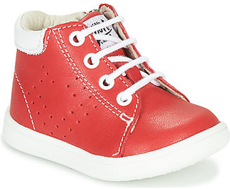 GBB FOLLIO boys's Shoes (High-top Trainers) in Red