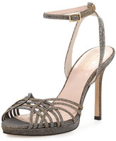Kate Spade Farryn Shimmery Strappy Sandal, Bronze