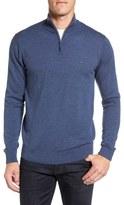 Lacoste Wool Quarter Zip Sweater