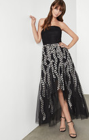 BCBGMAXAZRIA Embroidered Tulle Evening Dress