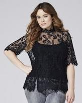 High Neck Lace Blouse - ShopStyle