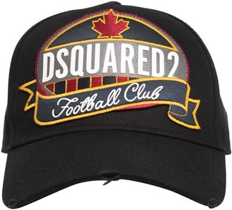 DSQUARED2 Patch Cotton Canvas Baseball Hat