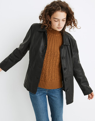 Madewell Deadwood Recycled Leather Tyra Tie-Waist Jacket