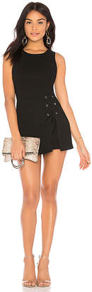 BCBGeneration Lace Up Skirt Overlay Romper