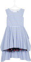 Jean Paul Gaultier teen stepped hem striped dress - kids - Cotton/Polyamide - 14 yrs