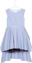 Junior Gaultier teen stepped hem striped dress - kids - Cotton/Polyamide - 14 yrs