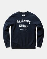 Reigning Champ Gym Logo Long Sleeve Crewneck (Navy)